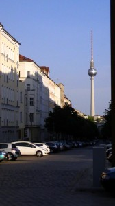 The ever-present TV tower in Berlin