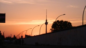 Berlin TV Tower and the Berlin Wall