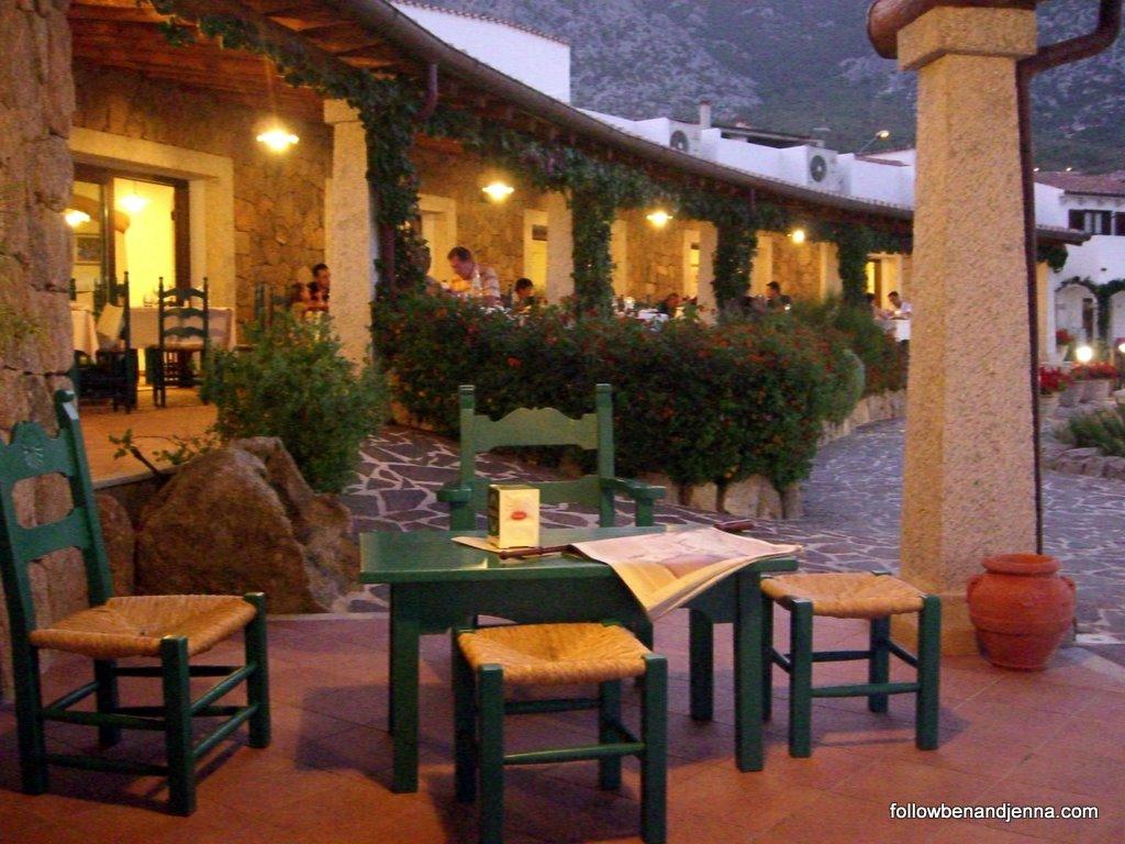 Hotel Nuraghe Arvu restaurant in Cala Gonone, Sardinia