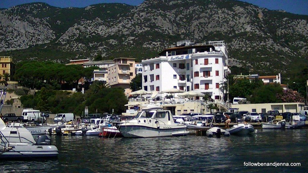 The small port of Cala Gonone, Sardinia, Italy