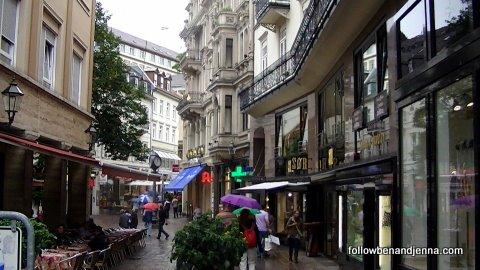 Pedestrian area of Baden-Baden, Germany
