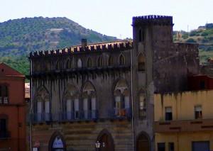 Venetian Gothic architectural detail in Bosa, Sardinia