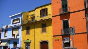 Colorful buildings in Bosa
