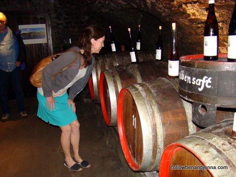 Wine tasting at Gasthaus Stahl. Photo by Barbara Ogden