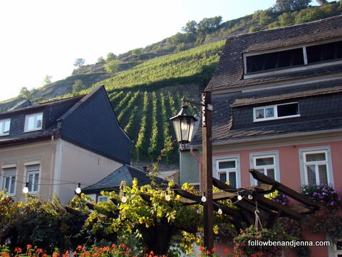 A cafe in Bacharach, Germany