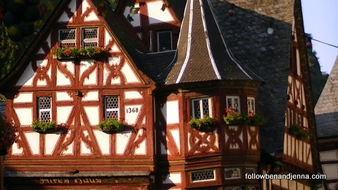 "Aptly called the ""Altes Haus"" (Old House) in Bacharach - check out the date."