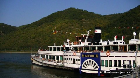 The Goethe riverboat on the Rhine
