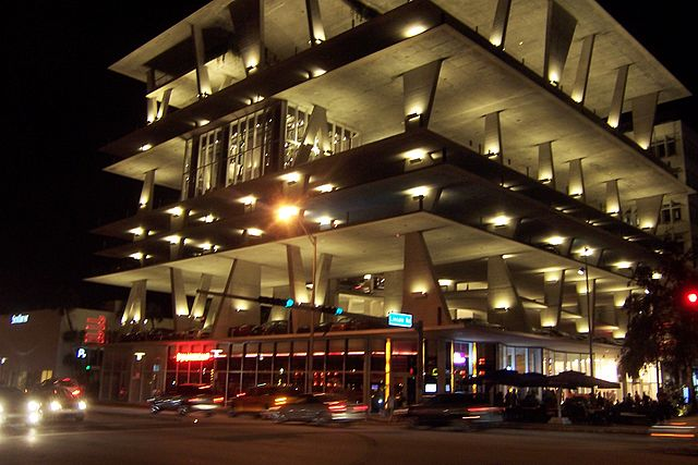 1111 Lincoln Road at night, Image by Jonathan Schilling via Wikipedia
