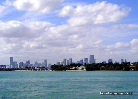 View from Miami Beach of Downtown Miami