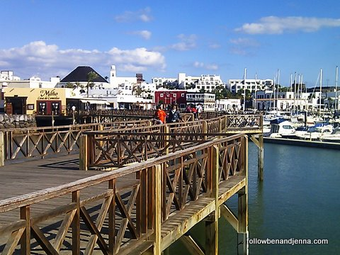 Touristy but cute: Marina Rubicon, Lanzarote