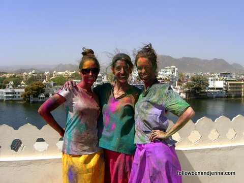 Painted ladies in Udaipur during Holi festival