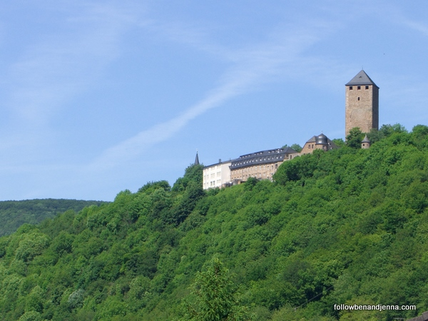 Burg Lichtenberg near Ruthweiler, Germany, in spring