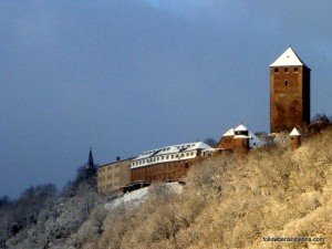 Burg Lichtenberg near Ruthweiler, Germany, in winter