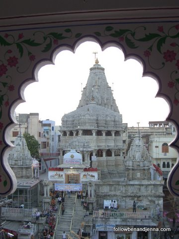 VIew of Jagdish Temple, center city Udaipur
