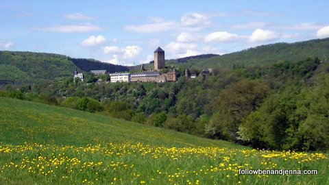 Burg Lichtenberg, near Kusel, Germany, in spring
