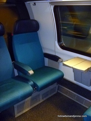 Swiss rail second class seats