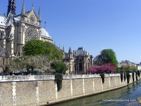 Notre Dame and the Seine in spring