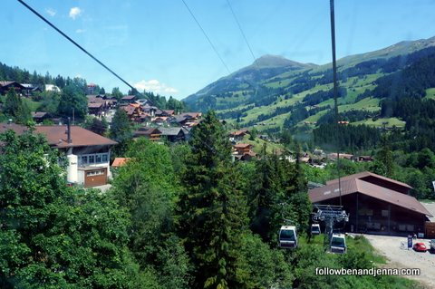 Adelboden, seen from gondola