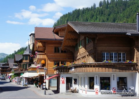 Main street of Adelboden, Switzerland