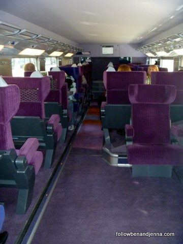 First class train seats in France