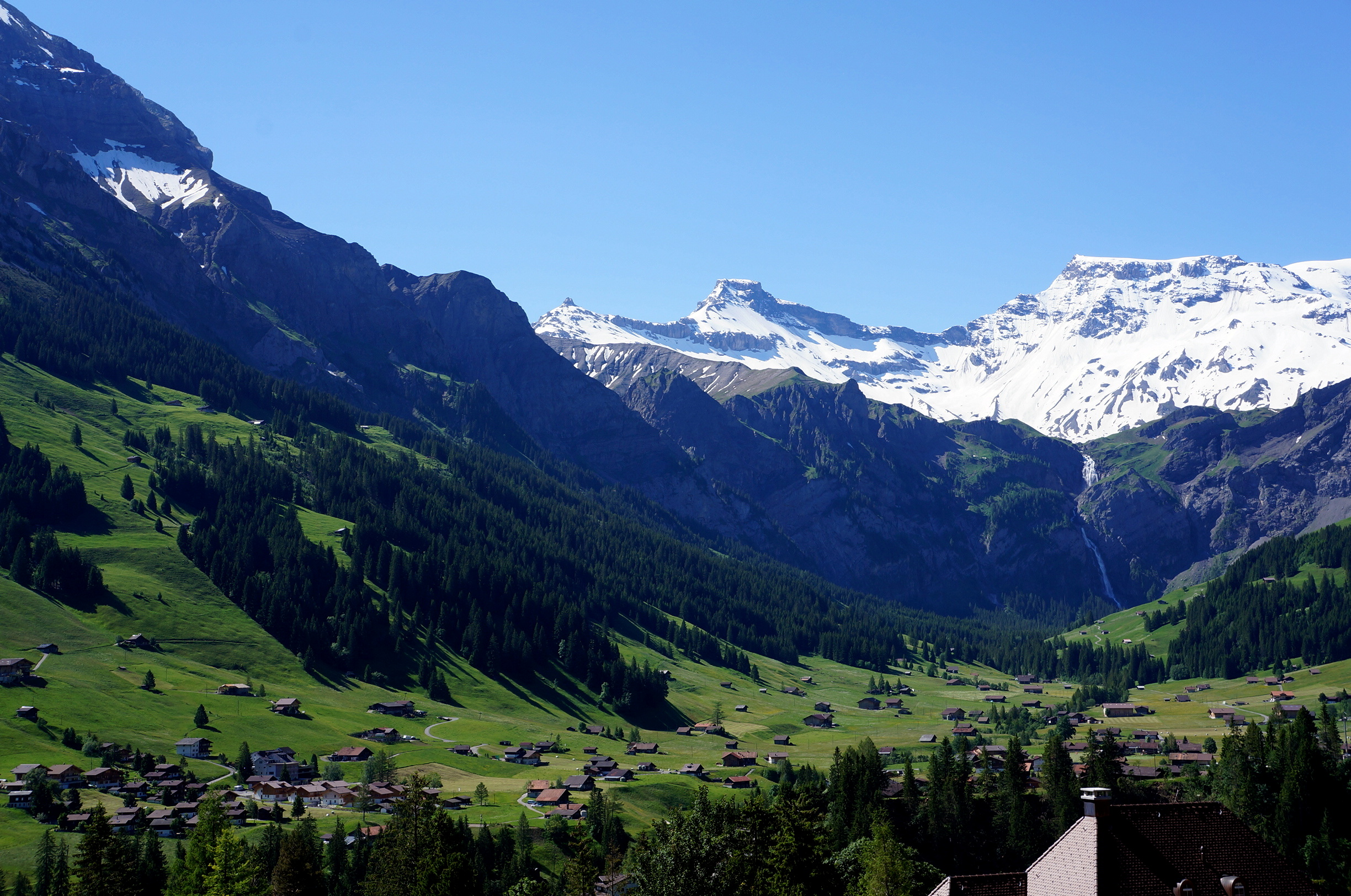 The view from Adelboden, Switzerland