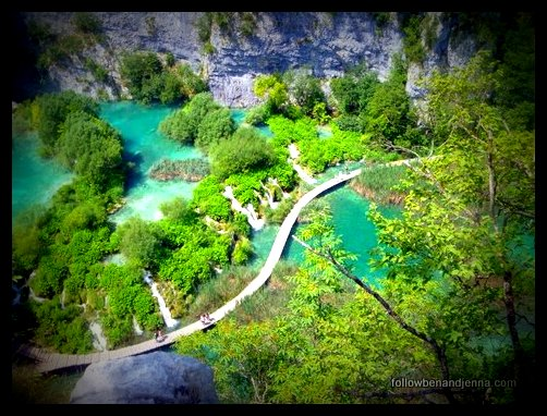 Croatia's Plitvice lower lakes, seen from above