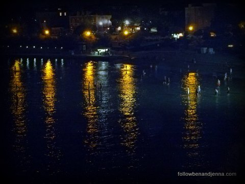 Late night bathers in Split