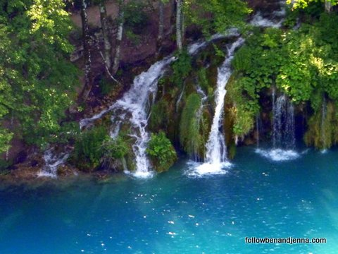 Waterfalls at the Plitvice Lakes