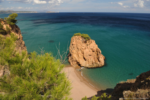 The rugged coastline of the Costa Brava