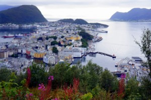 Norway's Alesund: Frozen in time, but the fires continue