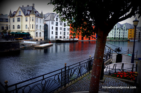 Brosundet Canal in Alesund, Norway