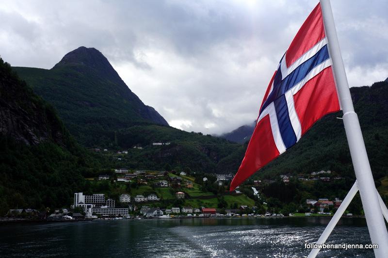 Tourist ferry Geiranger Geirangerfjord