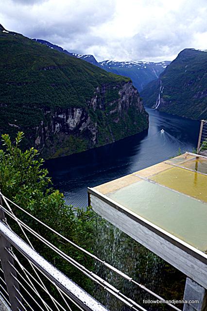 Ørnevegen lookout architecture, Geiranger, Norway