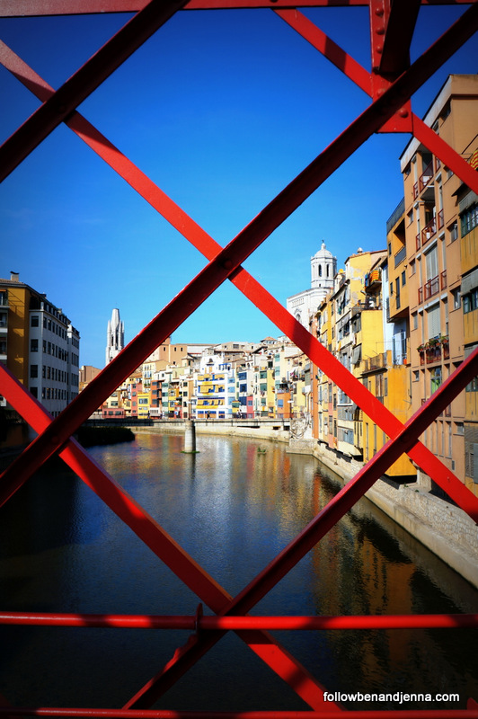 View from Eiffel Bridge Gerona Girona