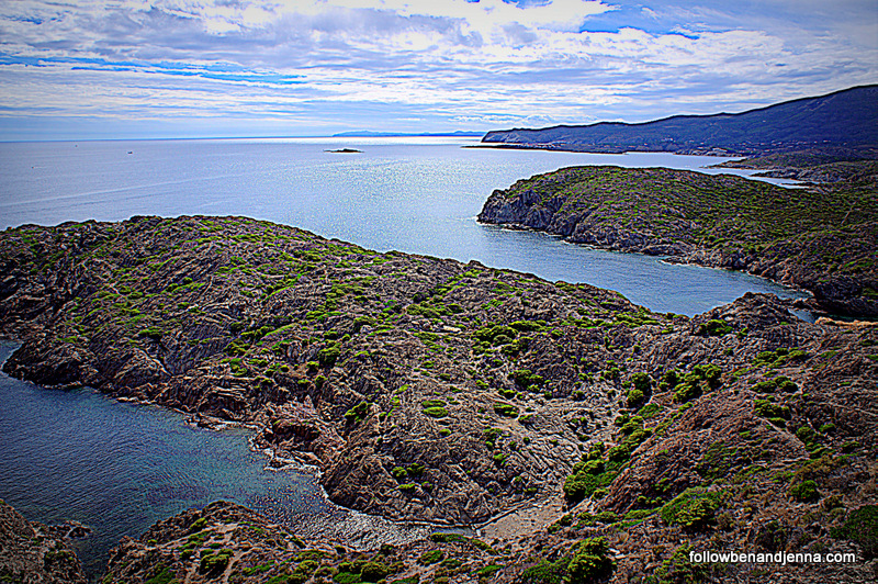 Cap de Creus and view of Costa Brava Spain