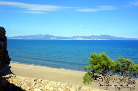 View from St. Marti de Empuries, the original Greek colony