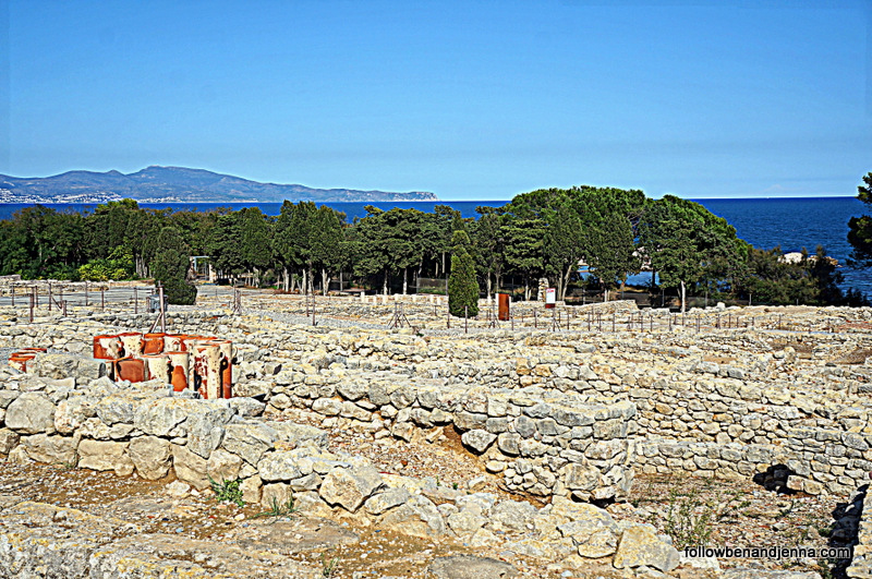 Empuries Greek ruins on Costa Brava Spain