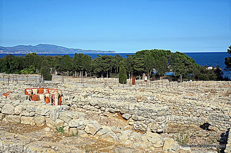 Empuries Greek ruins on Costa Brava Spain