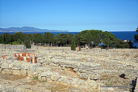 The view from the ruins of Empuries