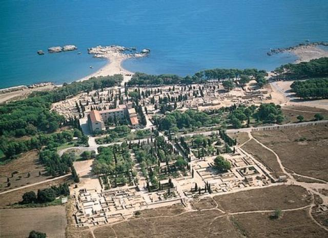 The ruins of Empuries from above