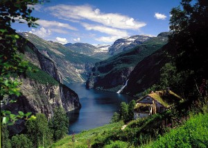 Geiranger fjord, seen from a farm