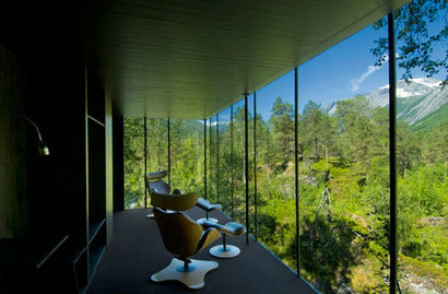 Inside the Juvet Landscape Hotel of Norway
