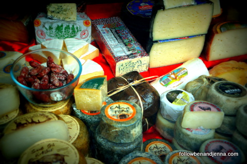 Chees display in Catalonia
