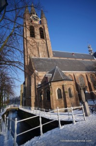 The Oude Kerk (Old Church) dates to 1246, is famous for its leaning tower, and houses the grave of Johannes Vermeer