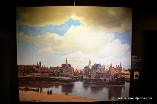 View of Delft, by Johannes Vermeer