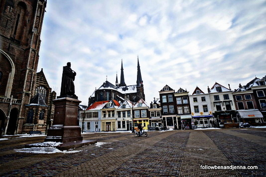 The Nieuwe Kerk (New Church) of Delft and Markt Square