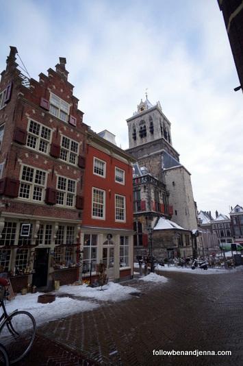 Delft street architecture