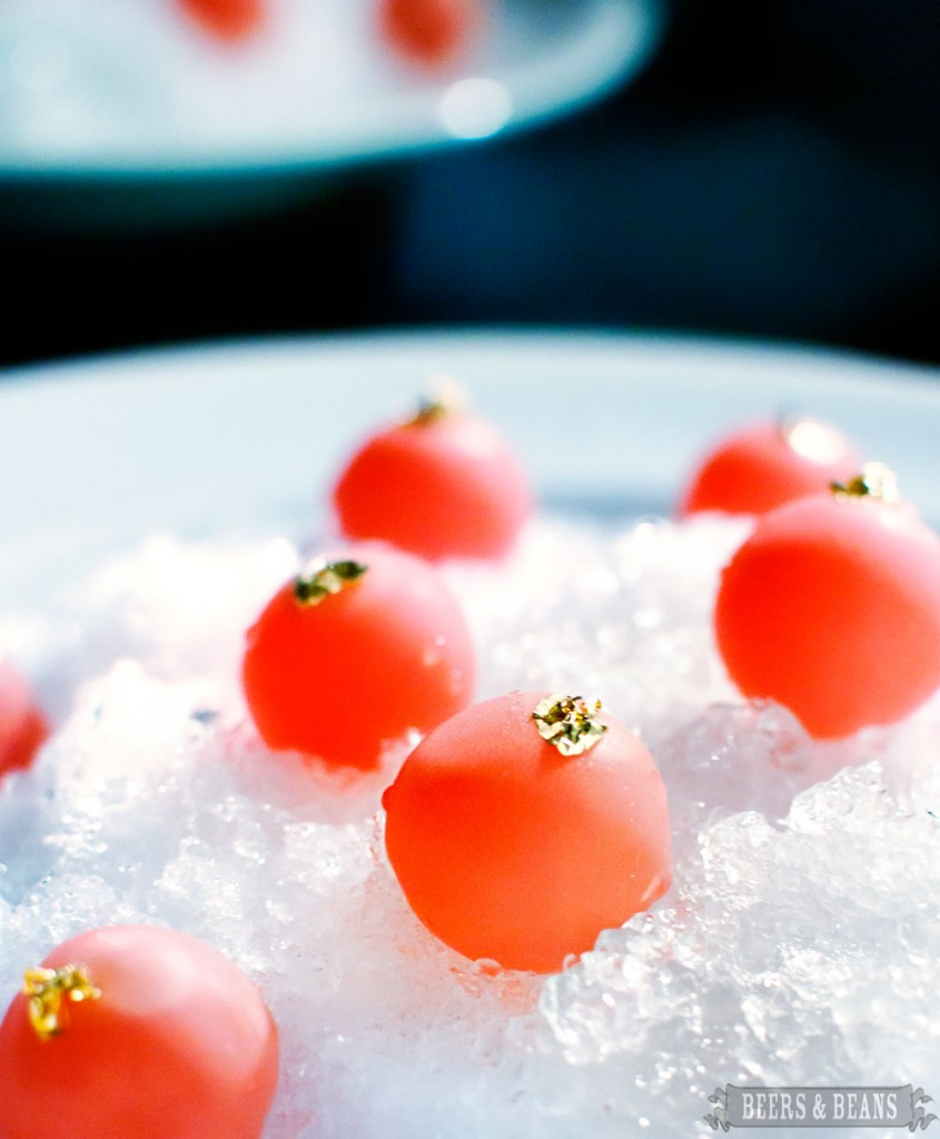 Campari bonbons from el Celler de Can Roca