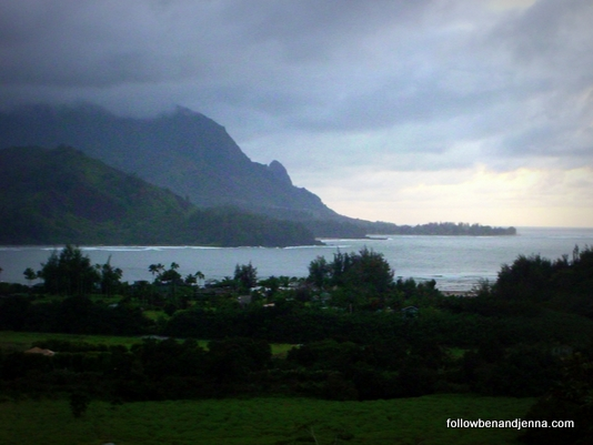 The sunset photo of Hanalei Bay that delayed our trip to the campsite. Unfortunately, by the time we made it back to the lookout, the sun had already set! I know you've all got great imaginations, so please insert your own sunset here.