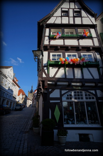 Traditional German building at Fasching
